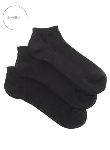 People By Fabrika 3'lü Çorap Siyah